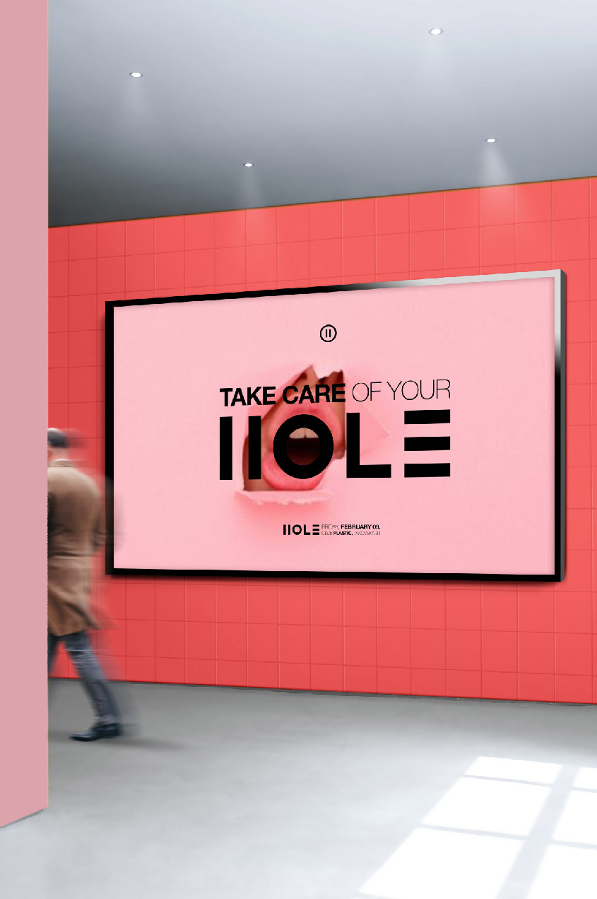 hole party visual identity logo design general condition beograd srbija jovan lakic
