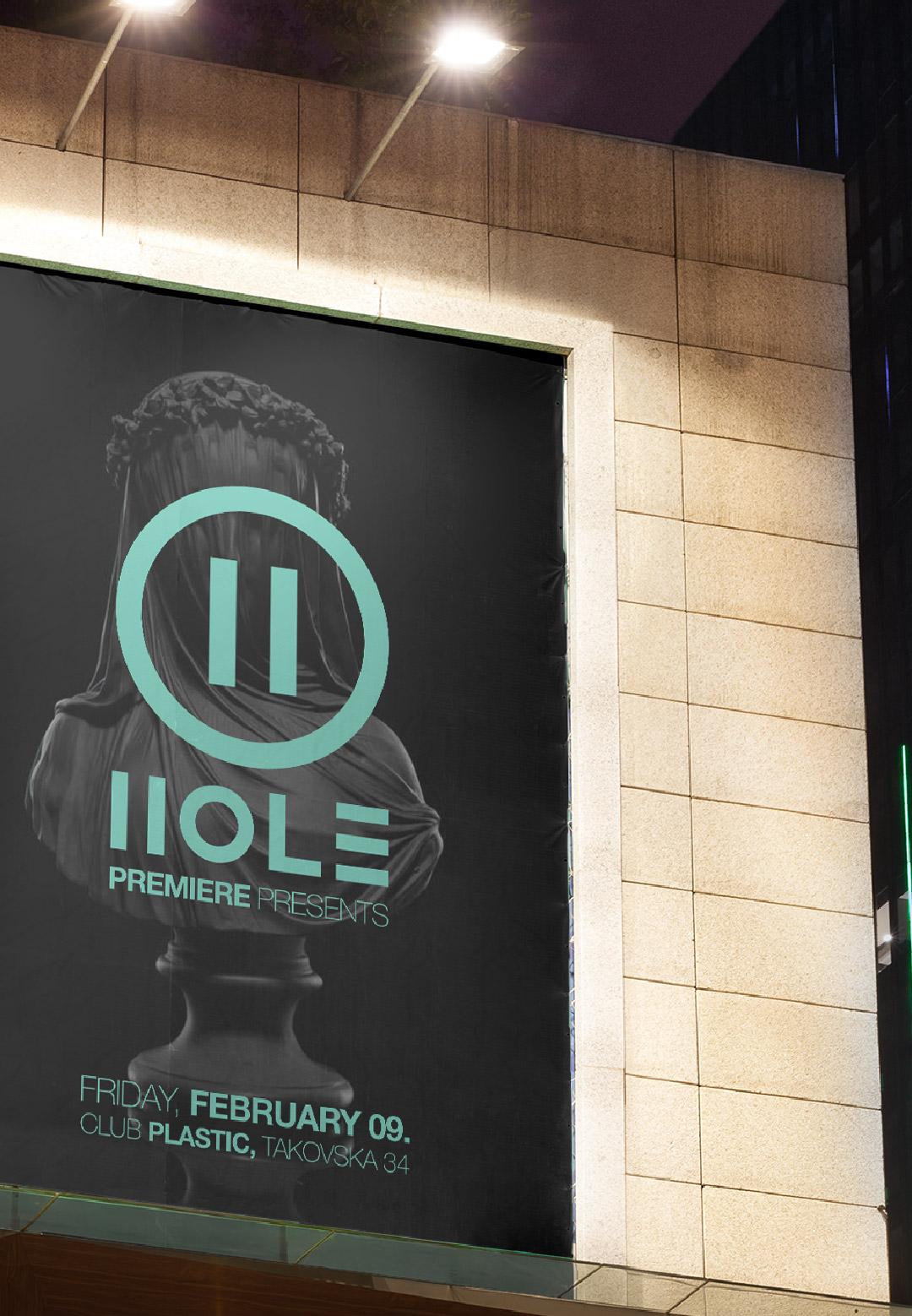 hole party belgrade plastic club visual identity general condition studio